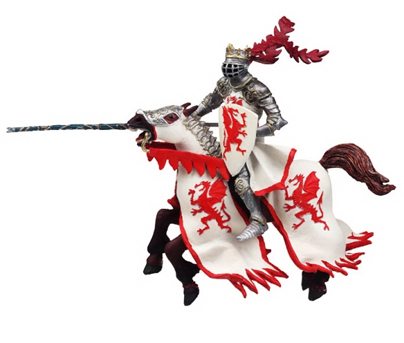 Papo Dragon King Red Horse 39388