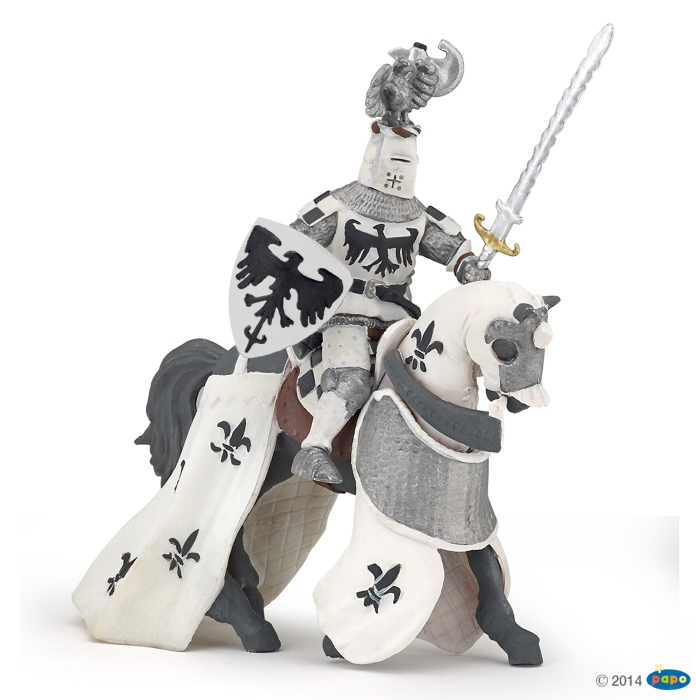 Papo Crested White Knight Horse 39786