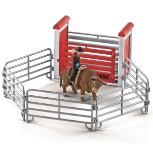 Schleich Bull Riding Cowboy 41419