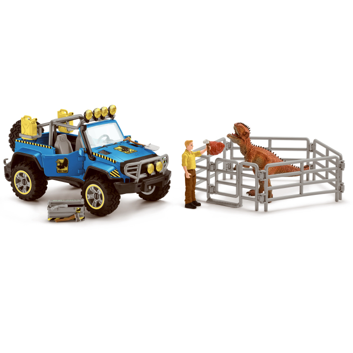 Schleich Off Road Vehicle with Dino Outpost 41464