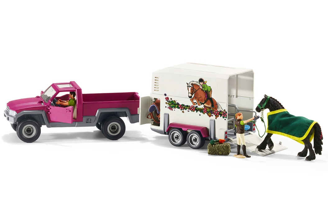 Schleich Pick Up with Horse Box 42346