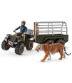 Schleich Quad Bike, Trailer, Ranger & Tiger!