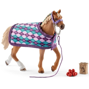 Schleich English Thoroughbred with Blanket 42360