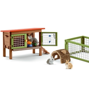 Schleich Rabbit Hutch 42420