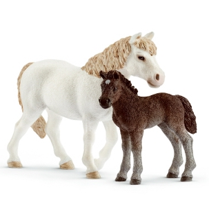 Schleich Pony Mare & Foal 42423