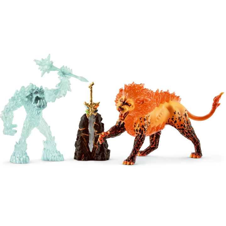 Schleich Battle for Superweapon Frost Monster Fire Lion 42455