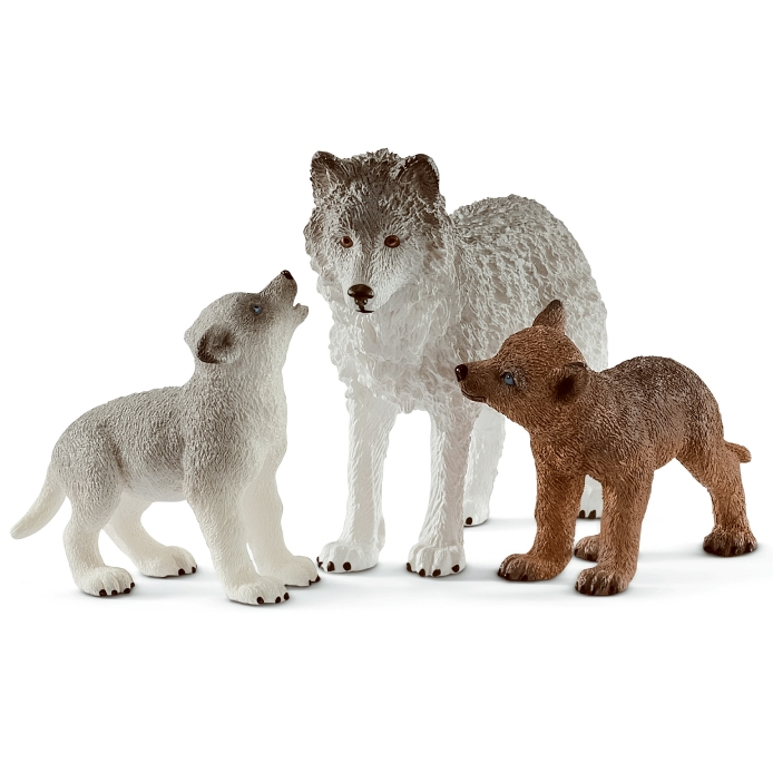 Schleich Wolf Mother with Pups 42472
