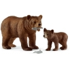 Schleich Grizzly Bear Mother with Cub 42473