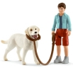 Schleich Walking with Labrador 42478