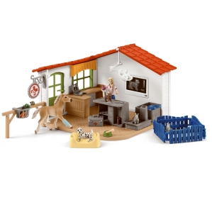 Schleich Vet Practice with Pets 42502