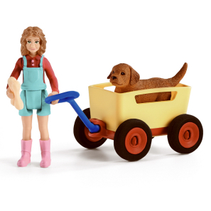 Schleich Puppy Wagon Ride 42543