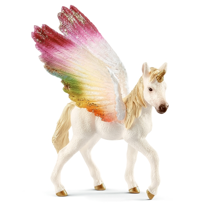 Schleich Rainbow Unicorn Winged Foal 70577