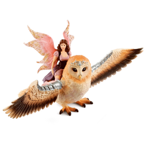 Schleich Fairy in Flight on Glam Owl 70713